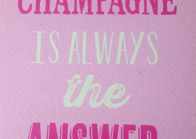 Champagne is ...