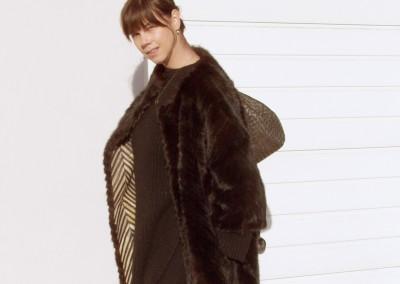 Mink tails coat