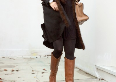 Georgette coat trimmed with mink, Eliza